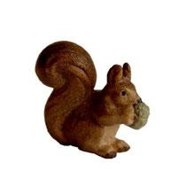 Bild Krippentier Eichhörnchen aus Ahornholz geschnitzt