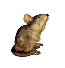 Bild Krippentier Maus sitzend aus Ahornholz geschnitzt