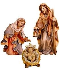 Bild Krippenfiguren Thomas Hl. Familie orientalisch aus Ahornholz geschnitzt