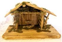 Bild Krippenstall Holz Hirtenstand