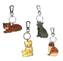 Bild Schlüsselanhänger Katzen groß Nr. PHSAK8610 aus Holz