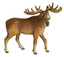 Bild Elch Nr. 1139 aus Ahornholz geschnitzt
