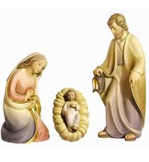 Bild Krippenfiguren Mirja Hl. Familie aus Ahornholz geschnitzt