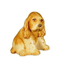 Bild Hund Cocker Spaniel Nr. 1017 aus Ahornholz geschnitzt