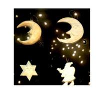 Bild Baumschmuck Mond, Sonne, Nikolaus aus Holz