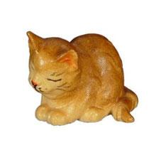 Bild Kätzchen nickend Nr. 1002 aus Ahornholz geschnitzt