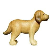 Bild Krippenfigur Mirja Hund aus Ahornholz geschnitzt