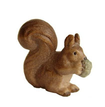 Bild Eichhörnchen Nr. 1090 aus Ahornholz geschnitzt