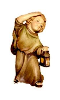 Bild Krippenfigur Thomas Hirtenjunge mit Laterne aus Ahornholz geschnitzt