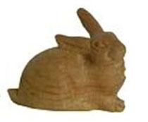 Bild Krippenfigur Hase liegend handgeschnitzt aus Zirbenholz