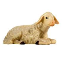 Bild Krippenfigur Joshua Schaf liegend aus Ahornholz geschnitzt