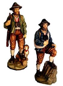 Bild Bergsteiger und Jäger aus Ahornholz geschnitzt