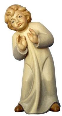 Bild Krippenfigur Mirja erstauntes Kind aus Ahornholz geschnitzt