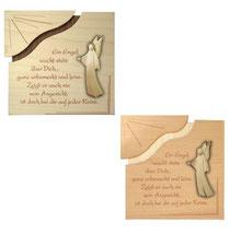 Bild Spruchmotiv Aram Engel und Tafel aus Holz