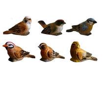 Bild Vögel Nr. BC-10 handgeschnitzt aus Holz