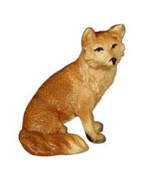 Bild Fuchs sitzend Nr. 1060 aus Ahornholz geschnitzt