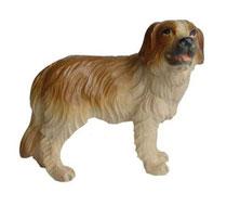 Bild Hund Bernhardiner Nr. 1013 aus Ahornholz geschnitzt
