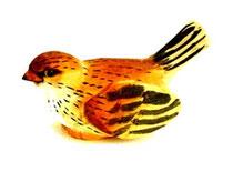 Bild Vogel Nr. 650242 handgeschnitzt aus Holz