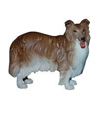 Bild Hund Collie Nr. 1014 aus Ahornholz geschnitzt