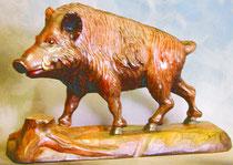 Bild Holzfigur Wildschwein/Keiler Nr. 25 handgeschnitzt