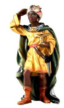 Bild Krippenfigur Joshua König Mohr aus Ahornholz geschnitzt