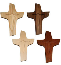 Bild Kreuz Jesus aus Holz