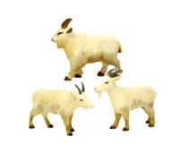 Bild Ziegen Nr. 20285 handgeschnitzt aus Holz
