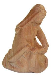 Bild Krippenfigur Maria handgeschnitzt aus Zirbenholz