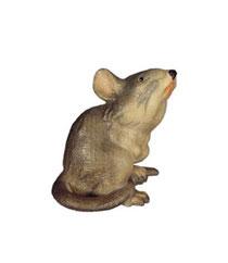 Bild Maus sitzend Nr. 1086 aus Ahornholz geschnitzt