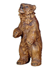 Bild Bär stehend Nr. 1075 aus Ahornholz geschnitzt