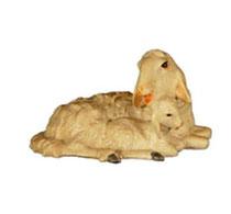 Bild Krippentier Schafgruppe liegend aus Ahornholz geschnitzt