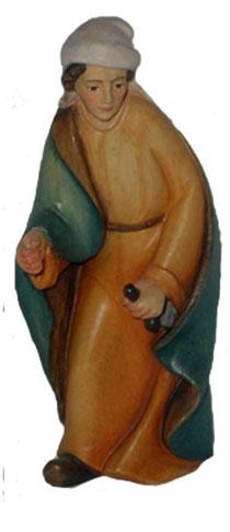 Bild Krippenfigur Thomas modern Kameltreiber aus Ahornholz geschnitzt