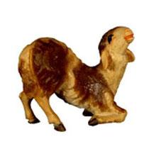 Bild Krippentier Schaf kniend aus Ahornholz geschnitzt