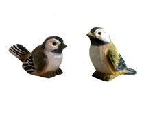 Bild Vögel BC-12 handgeschnitzt aus Holz