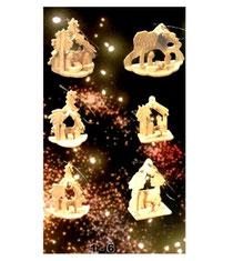 Bild Baumschmuck Minikrippen aus Holz