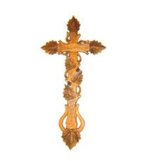 Bild Kreuz Laubbalken aus Holz