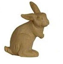 Bild Krippenfigur Hase rechtsschauend handgeschnitzt aus Zirbenholz