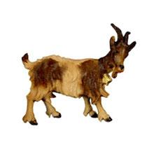 Bild Krippentier Ziege mit Glocke aus Ahornholz geschnitzt