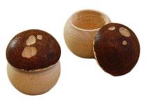 Bild Pilz Pillendose aus Holz