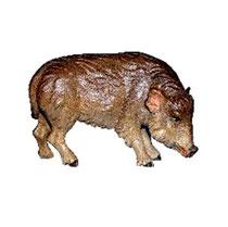 Bild Krippentier Bache aus Ahornholz geschnitzt