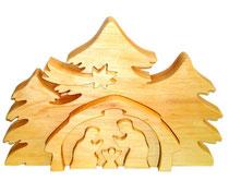 Bild 3D Erlenkrippe aus Holz