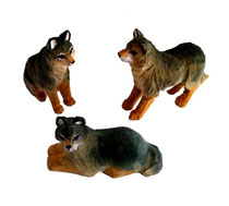 Bild Wölfe Nr. 651042 handgeschnitzt aus Holz