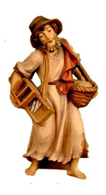 Bild Krippenfigur Thomas Hirt mit Krauthobel Nr. 15 aus Ahornholz geschnitzt