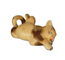 Bild Katze liegend Nr. 1004 aus Ahornholz geschnitzt