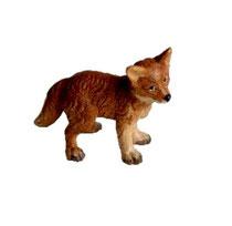 Bild Krippentier Fuchswelpe stehend aus Ahornholz geschnitzt