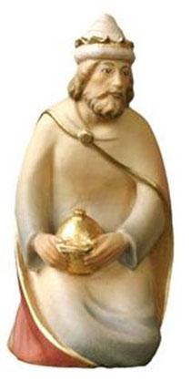 Bild Krippenfiguren Mirja König kniend aus Ahornholz geschnitzt