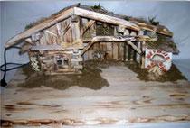 Bild Krippenstall Holz Bodensee