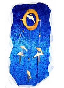 Bild Deko Mobile aus Holz Delphine