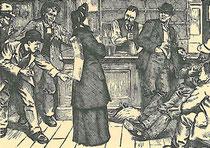 Salutistin wird in einer Kneipe verspottet