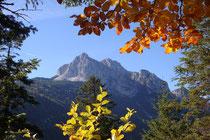 Wanderung zum Kranzberg, Bergtour Stuibenfall